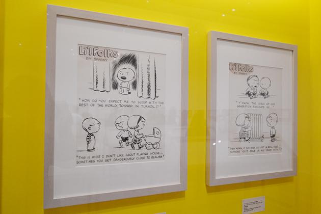 チャールズ M シュルツ氏の初期作品。子どもの頃から漫画家になることが夢だったそう