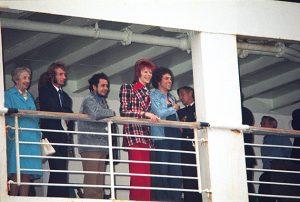 1973年 初来日時の船上写真(横浜港) Koh Hasebe/Shinko Music
