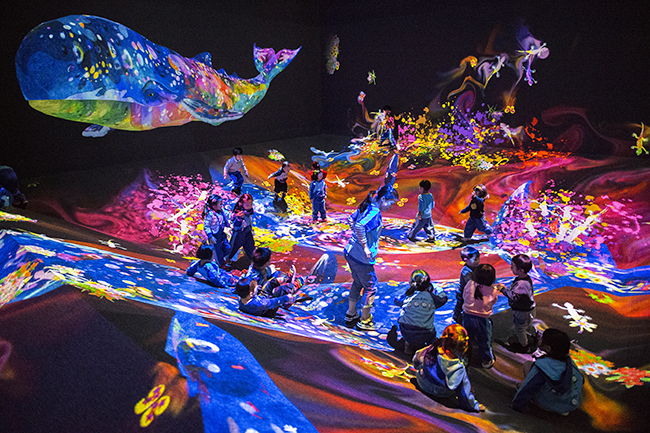 子供たちに大人気!体験型音楽フェスティバル、チームラボ「バイトル presents チームラボジャングルと学ぶ!未来の遊園地」