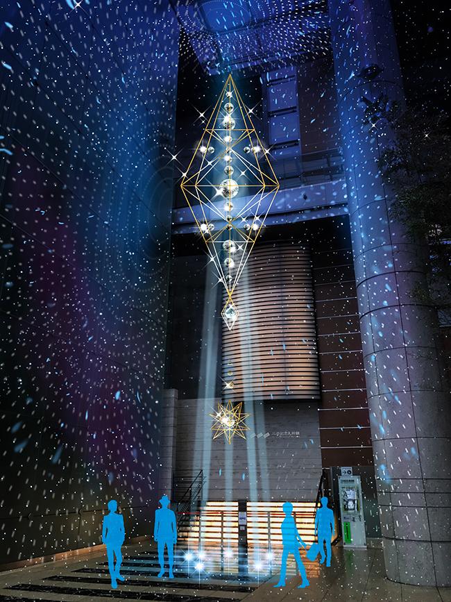 子供、家族みんなで流星と反射光の体験型インスタレーションを楽しめる「NIHONBASHI-星降ル森」