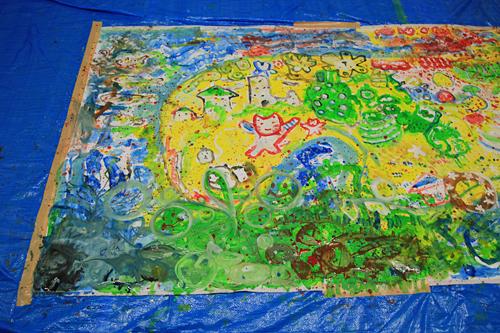 イラストレーター たかしまてつをさんプロデュース!子供たちを集めて自由にお絵描き『ぼうけん島を描こう!』開催!