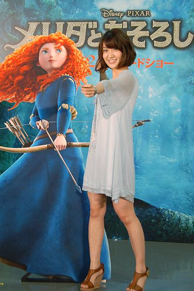 """""""まるで夢のよう"""" 大島優子さん王女メリダに変身!AKB48 大島優子さん、映画『メリダとおそろしの森』で公開アフレコ!"""