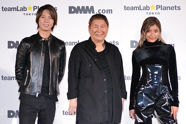 "Opening Ceremony & New CM Production Presentation of ""Team Labo Planetz TOKYO DMM.com"", a Super Huge Immersion Space to Art Opening in Shin Toyosu on Tanabata on Saturday, July 7, 2018, will be held! Takeshi Kitano, Tomohisa Yamashita, Laura appear and can enjoy with children!"