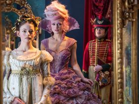 Mackenzie Foy is Clara and Keira Knightley is the Sugar Plum Fairy in Disney's THE NUTCRACKER AND THE FOUR REALMS.