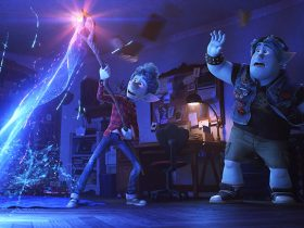 "CONJURING DAD – In Disney and Pixar's ""Onward,"" brothers Ian and Barley Lightfoot (voiced by Tom Holland and Chris Pratt) are given a special gift from their late father on Ian's 16th birthday. But when an accompanying spell meant to magically conjure their dad for one day goes awry, they embark on a quest fraught with some of the most unexpected obstacles. Directed by Dan Scanlon and produced by Kori Rae, ""Onward"" opens in U.S. theaters on March 6, 2020. © 2019 Disney/Pixar. All Rights Reserved."