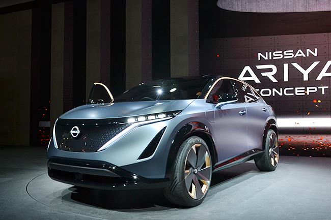日産の新型SUVコンセプトモデル「ARIYA」も世界初公開!「IMk」「ARIYA」の2台は、非常に近い将来の日産の向かう方向を示しているそう(第46回東京モーターショー2019)