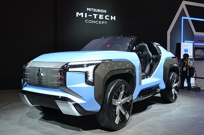 ガスタービンエンジンとモーターを組み合わせたPHEVガスタービンエンジンを搭載した三菱の「MI-TECH CONCEPT(マイテックコンセプト)」(第46回東京モーターショー2019)