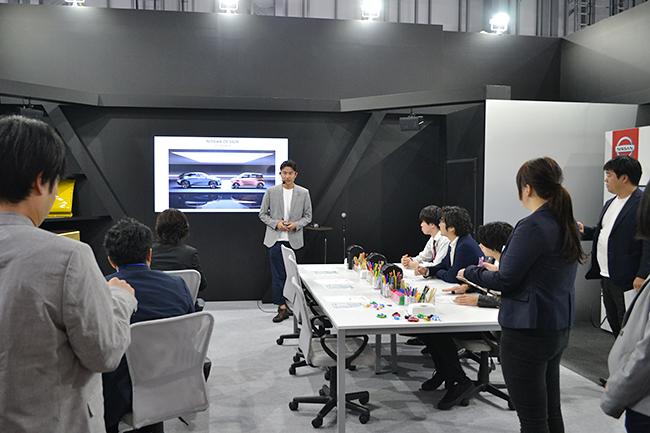 日産は未来のコンセプトカーをデザインするカーデザイナーを体験。つくったクルマは3Dスキャンしてバーチャルな街を走る(第46回東京モーターショー2019)