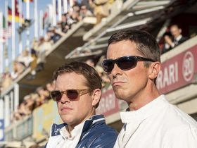 Matt Damon and Christian Bale in Twentieth Century Fox's FORD V. FERRARI.
