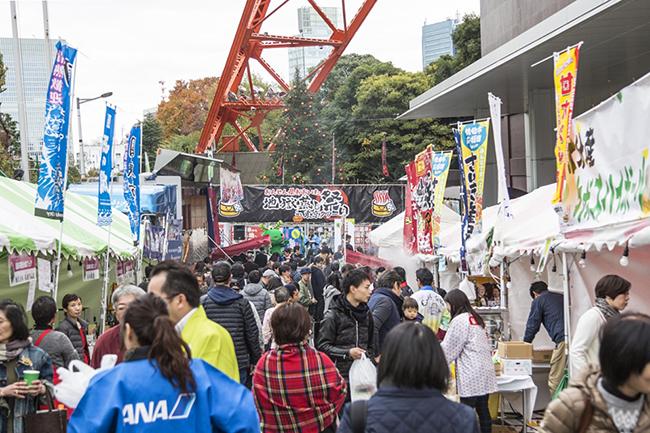 """""""おんせん県おおいた"""" をアピールする大分県の観光と食のPRイベント「おんせん県おおいた『地獄蒸し祭り』in東京タワー2019」が、2019年11月23日(土・祝)・24日(日)、東京タワーで開催!666名に旬のブリとヒラメの「握り寿司」を無料配布!"""