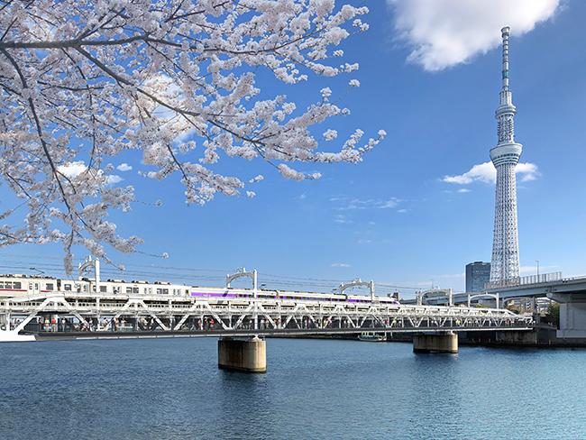 浅草と東京スカイツリータウンを結ぶ鉄道高架下に、新たな複合商業施設「東京ミズマチ®」が誕生、浅草側のウエストゾーンが2020年4月17日(金)に開業!イーストゾーンは2020年6月より順次開業予定!また隅田川には歩道橋「すみだリバーウォーク」が新設。