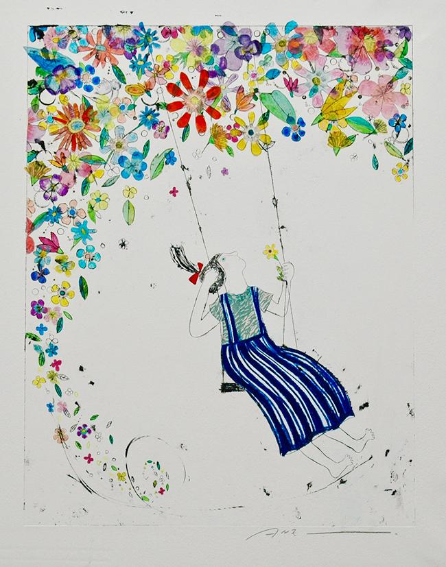 版画家・蟹江杏さんの展覧会「蟹江杏 新作展 ー万物への眼差しー」が、2020年6月4日(木)〜10日(水)まで、GINZA SIXで開催! 2020年の渾身の新作約50点を初公開、販売。また同展覧会はWEBサイト「アトリエ ANZ」でも同時開催!