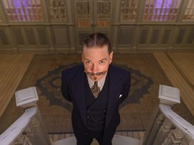 Kenneth Branagh as Hercule Poirot in 20th Century Studios' DEATH ON THE NILE, a mystery-thriller directed by Kenneth Branagh based on Agatha Christie's 1937 novel. Photo by Rob Youngson. © 2020 Twentieth Century Fox Film Corporation. All Rights Reserved.