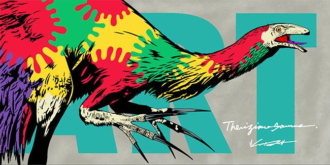 ストリートアートと恐竜がコラボした新しい恐竜展「Gr8!こぶりな恐竜展」が2021年10月31日(日)まで横浜赤レンガ倉庫 1号館で開催!ドロマエオサウルスやヴェロキラプトルなど「こぶり」ながら迫力ある全身骨格標本をはじめとした恐竜と、アーティストYOICHIRO氏によるポップで個性的なストリートアートが競演する新感覚の恐竜展。
